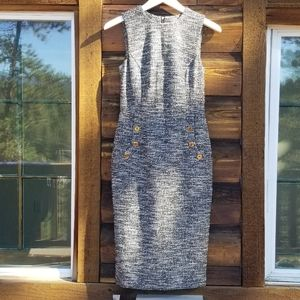 NWT Calvin Klein Woven Tweed Career Dress, 2